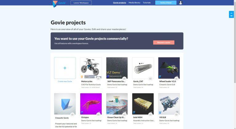 Govie Projekte Übersicht